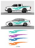 Abstract racing  background for truck car and vehicles. Use for car wrap and vinyl cutting sticker Stock Photo