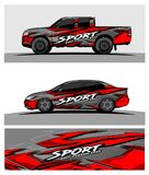 Abstract racing background for truck car and vehicles. Use for car wrap and vinyl cutting sticker royalty free illustration