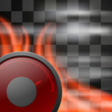 Abstract racing checkered background. With speedometer in flame. EPS10 Royalty Free Stock Images
