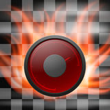 Abstract racing checkered background. With speedometer in flame. EPS10 Royalty Free Stock Image