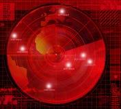 Abstract radar illustration Stock Image