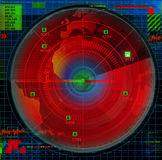 Abstract radar illustration Royalty Free Stock Images