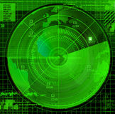 Abstract radar illustration Royalty Free Stock Image