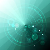 Abstract radar on turquoise triangles Stock Images