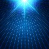 Abstract radiaal licht de uitbarstingseffect van het technologie futuristisch blauw neon op donkere achtergrond Digitale halftone stock illustratie