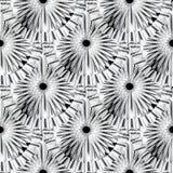 Abstract radiaal vormen zwart-wit vector naadloos patroon Betegeld om mandalasachtergrond Geometrisch herhaal achtergrond modern vector illustratie