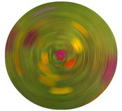 Abstract Radial Blur  on white background. Pastel colors, mostly green  swirl around pink center Stock Photos