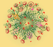 Abstract radial floral design Royalty Free Stock Image
