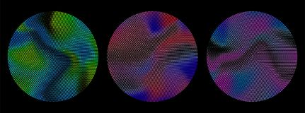 Abstract radial gradient dots pattern. Design elements. Vibrant color  illustration. Royalty Free Stock Photos