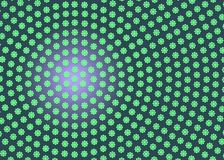 Abstract Radial Green Geometric Floral Texture in Dark Purple Background. Abstract image of radial green geometric flowers texture in purple background for royalty free stock photography