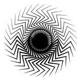 Abstract radial op-art element. Abstract shape on white. Royalty free vector illustration Royalty Free Stock Images