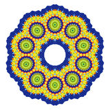 Abstract radial pattern. Color abstract radial pattern on white background Royalty Free Stock Images
