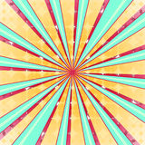 Abstract radial sun burst background. Retro style colorful light dissipated behind. Vector illustration. EPS 10 Royalty Free Stock Photography