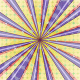 Abstract radial sun burst background. Retro style colorful light dissipated behind. Vector illustration. EPS 10 Stock Images