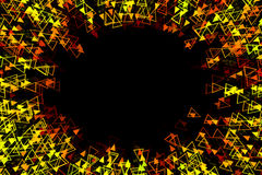 Abstract radial yellow background Royalty Free Stock Photos