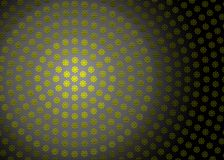 Abstract Radial Yellow Geometric Floral Texture in Dark Background vector illustration
