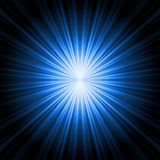 Abstract radiant star. Abstract radiant blue star on a black background vector illustration