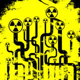 Abstract radiation background Stock Photo