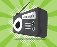 Abstract radio icon with half tone background Royalty Free Stock Image