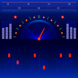 Abstract radio and music panel vector Royalty Free Stock Image