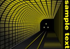 Abstract railway station. Witch yellow elements and yellow text Royalty Free Stock Image
