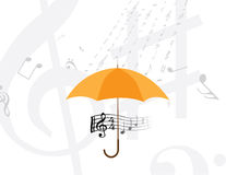 Abstract rain of music notes Royalty Free Stock Images