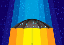 Abstract rain umbrella Stock Photos