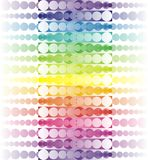 Abstract rainbow. Lines made from colorful dots Stock Photos