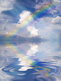 Abstract Rainbow above the water Royalty Free Stock Image