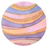 Abstract rainbow acrylic and watercolor circle painted backgroun Royalty Free Stock Photo