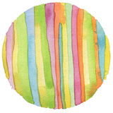 Abstract rainbow acrylic and watercolor circle painted backgroun Royalty Free Stock Photo