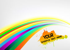 Abstract rainbow arrow banner Royalty Free Stock Image