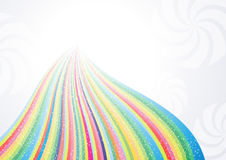 Abstract rainbow arrow banner Stock Photo