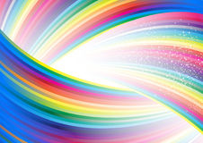 Abstract rainbow arrow banner. Clip-art Royalty Free Stock Image