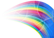 Abstract rainbow arrow banner Stock Photography