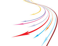 Abstract rainbow arrow line background Stock Photos