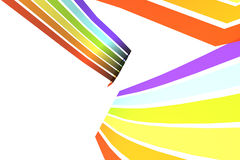 Abstract rainbow background. Illustration of abstract colorful background, isolated on white Royalty Free Stock Photos