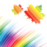 Abstract rainbow background. Vector with gredient mesh Royalty Free Stock Photos