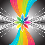 Abstract rainbow background. Clip-art Royalty Free Illustration