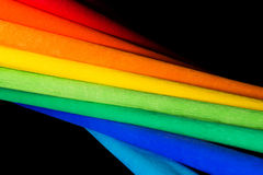 Abstract rainbow background with colored pape Stock Images