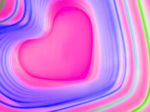 Abstract rainbow background. Colorful heart. Valentine`s Day background. Pink heart frame. Royalty Free Stock Images