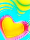 Abstract rainbow background. Colorful heart. Valentine`s Day background. Red heart frame. Royalty Free Stock Photo