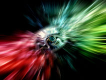Abstract rainbow background with divergent rays royalty free stock photography