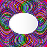 Abstract rainbow background with geometric waves and space for t Royalty Free Stock Photo