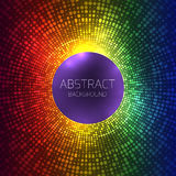 Abstract rainbow background with halftones and place for text. Stock Photos