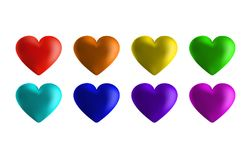 Abstract rainbow background from hearts. I love you . Vector illustration Royalty Free Illustration