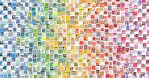 Abstract Rainbow Background made with Small illustrations Stock Photography