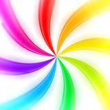Abstract rainbow background made of twirls. Abstract swirl rainbow background made of glossy twirls stock illustration