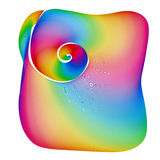Abstract rainbow background shape Royalty Free Stock Photography
