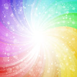 Abstract rainbow background with sparks Stock Images